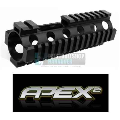 Cubierta frontal Apex2 con rieles Weaver (20 mm) para cabeza Apex2 | Paintball Sports