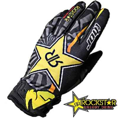 Guantes Rockstar Thor Paintball (negro / amarillo) | Paintball Sports