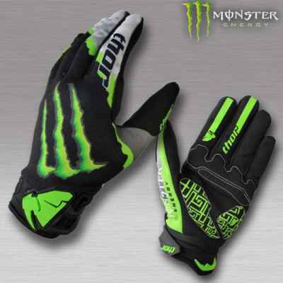 Guantes Monster Energy Thor Paintball (Negro / Verde) - L | Paintball Sports