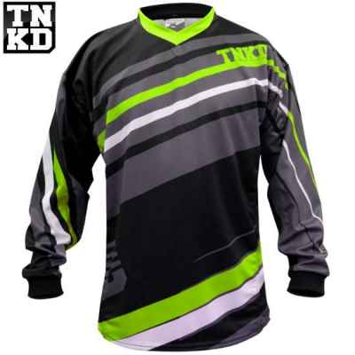 Jersey BASIC Paintball Tanked (negro / verde) - 2XL | Paintball Sports