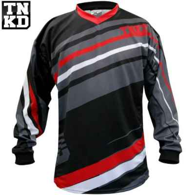 Camiseta BASIC Paintball Tanked (negro / rojo) - XL | Paintball Sports