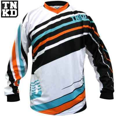 Jersey BASIC Paintball Tanked (blanco / naranja) - 2XL | Paintball Sports
