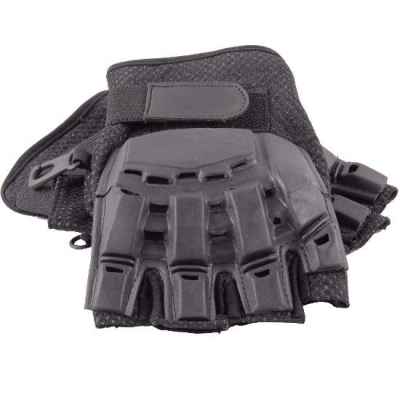 Guantes Paintball de medio dedo con protectores (negro) | Paintball Sports