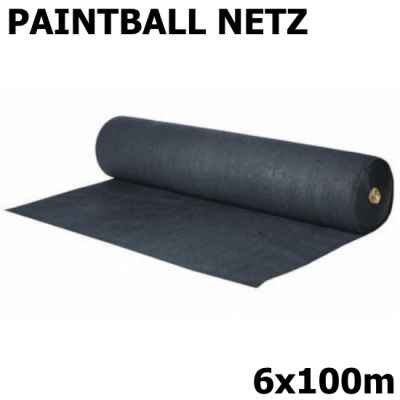 Red de corte de paintball / red de seguridad 6x100m (negro, 90 g) | Paintball Sports
