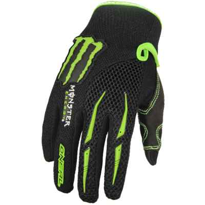 Guantes de paintball Monster-Energy (negro / lima) | Paintball Sports