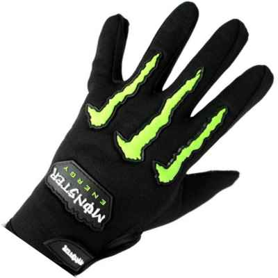 Guantes de paintball Monster-Energy CLAWS (negro / verde) | Paintball Sports