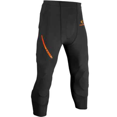 Pantalones cortos de protección de carbono Paintball Slide Slide (negro) | Paintball Sports
