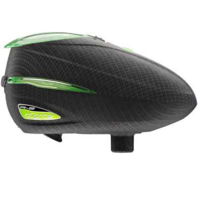 Dye Rotor R-2 Paintball Loader (carbono / verde lima) | Paintball Sports