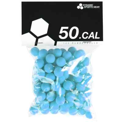 Cal. 50 bolas de goma de paintball / balas de goma (100 piezas) - AZUL | Paintball Sports