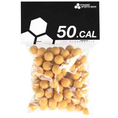 Cal. 50 bolas de goma de paintball / balas de goma (100 piezas) - AMARILLO | Paintball Sports