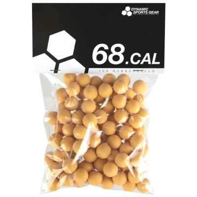 Cal. 68 bolas de goma para paintball / balas de goma (100 piezas) - AMARILLO | Paintball Sports