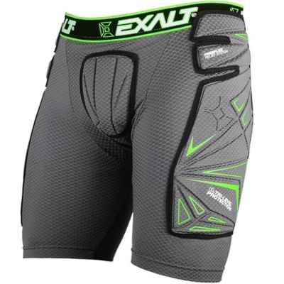 Exalt FreeFlex Paintball Slide Short (gris / verde) | Paintball Sports