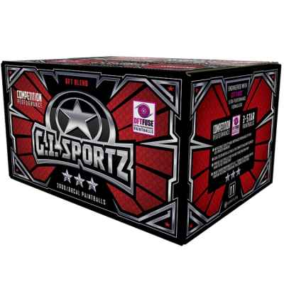 GI Sportz 3 Star Premium Paintballs (2000 piezas) | Paintball Sports