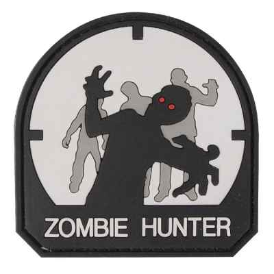 Paintball / Airsoft PVC Velcro Patch (Zombie Hunter, blanco) | Paintball Sports