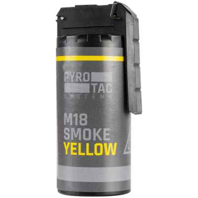PYROTAC M18 Paintball / Airsoft Smoke Grenade con balancín (amarillo) | Paintball Sports