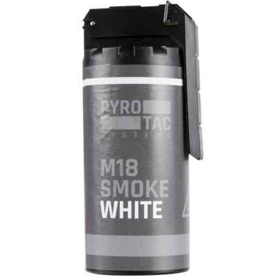 PYROTAC M18 Paintball / Airsoft Smoke Grenade con balancín (blanco) | Paintball Sports
