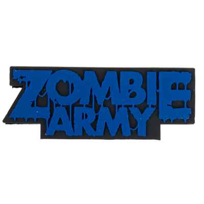 "Paintball / Airsoft PVC Velcro Patch (Zombie Army ""azul"") 