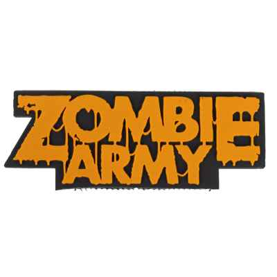 "Paintball / Airsoft PVC Velcro Patch (Zombie Army ""naranja"") 