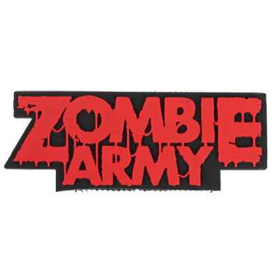 "Paintball / Airsoft PVC Velcro Patch (Zombie Army ""rojo"") 