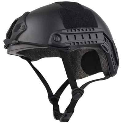 Casco táctico FAST para paintball / airsoft (negro) | Paintball Sports