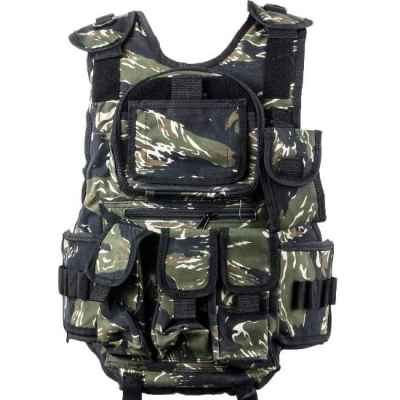 Paintball Tactical Vest 6 + 1 (Tiger Stripe Camo) | Paintball Sports