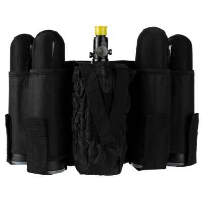 Paintball Tactical Battlepack 4 + 1 (negro) | Paintball Sports