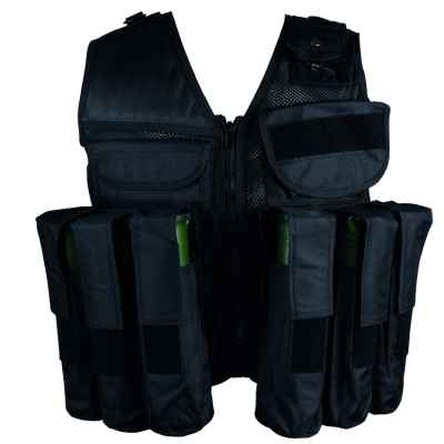 Paintball Tactical Vest 10 + 1 (negro) | Paintball Sports