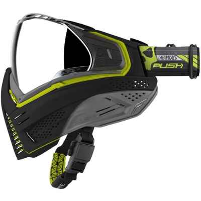 Push Unite Paintball Mask (LA Infamous Edition - Black / Lime) | Paintball Sports