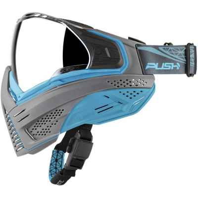 Push Unite Paintball Mask (gris / azul) | Paintball Sports