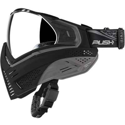Push Unite Paintball Mask (negro / gris) | Paintball Sports