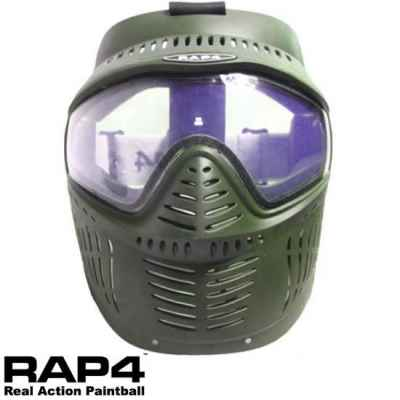 RAP4 Hawkeye Paintball Thermal Mask (oliva) | Paintball Sports