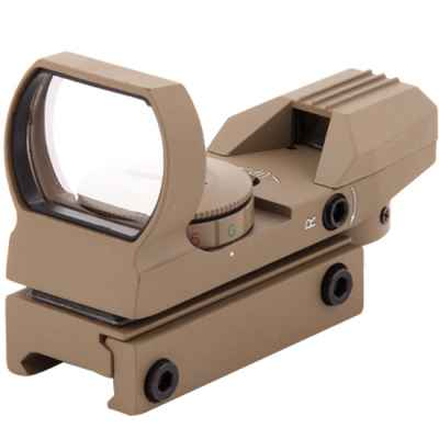 RD33 Tactical Green / Red Dot para 20mmRail (Tan) | Paintball Sports