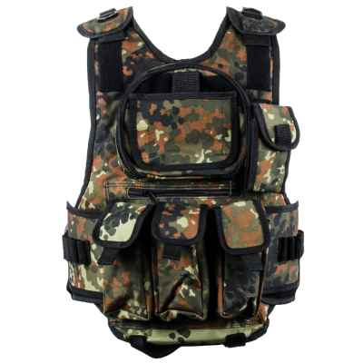 Paintball Tactical Vest 6 + 1 (Flecktarn Camo) | Paintball Sports