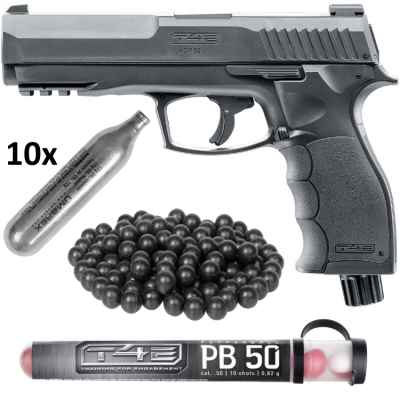Umarex T4E HDP 50 pistola HOME DEFENSE kit (negro) | Paintball Sports