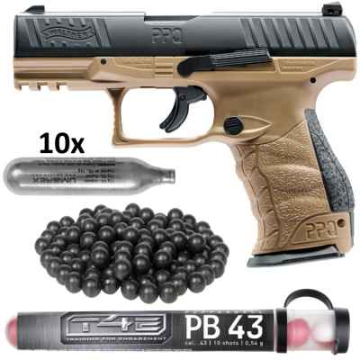 Walther PPQ M2 T4E pistola kit HOME DEFENSE (bronceado) | Paintball Sports