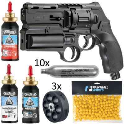 Umarex T4E HDR 50 Revólver KIT DE DEFENSA PERSONAL (19 piezas) | Paintball Sports