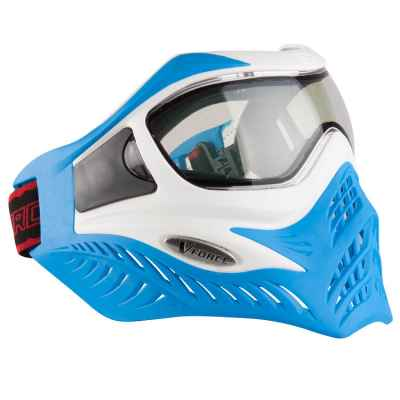 V-Force Grill Paintball Thermal Mask Ltd Edition (blanco / azul) | Paintball Sports