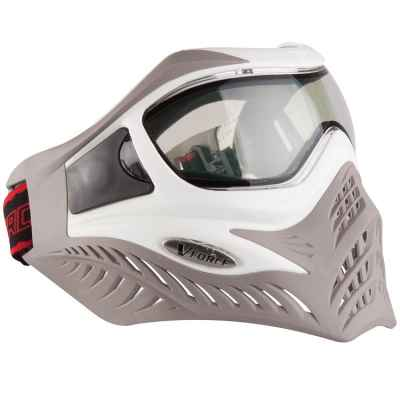 V-Force Grill Paintball Thermal Mask Ltd Edition (blanco / marrón) | Paintball Sports