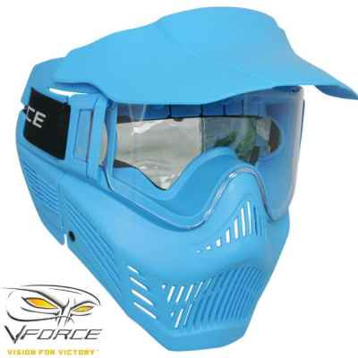 V-Force Armor Rental Paintball Máscara (azul) | Paintball Sports