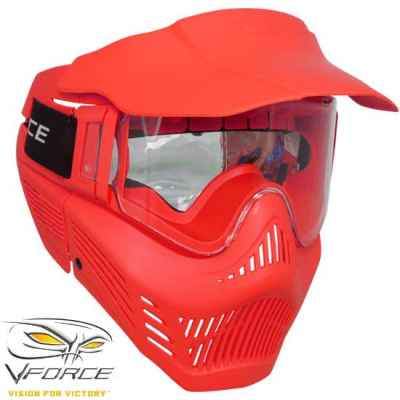 V-Force Armor Rental Paintballl Mask (rojo) | Paintball Sports