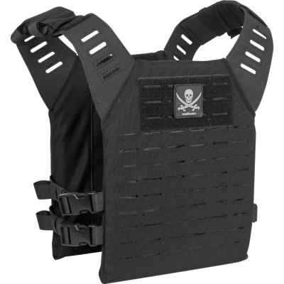 Valken Alpha Plate Carrier LC / Paintball Vest (Pirata negro) | Paintball Sports