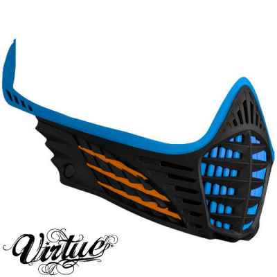 Virtue VIO Facemask / Mask Frame (Cian - Naranja - Negro) | Paintball Sports