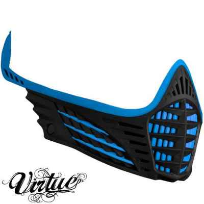 Virtue VIO Facemask / Mask Frame (Cyan / Black) | Paintball Sports