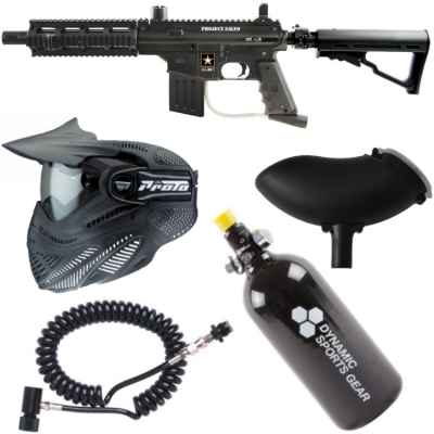 Tippmann Sierra One Tactical Paintball paquete económico / juego completo (negro) | Paintball Sports